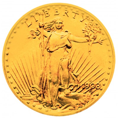 Saint Gaudens Gold Double Eagle, No Motto (1907-1908)