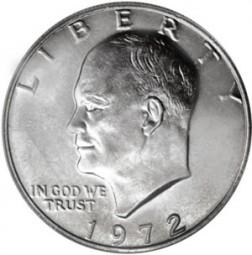 Eisenhower Dollars, Clad Composition Resumed (1971-1978)