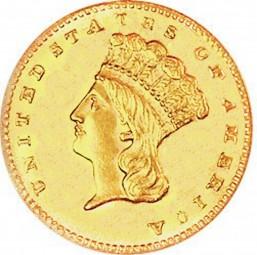 Large Indian Head Dollars, Indian Princess (1856-1889)
