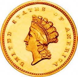 Small Indian Head Dollars, Indian Princess (1854-1856)