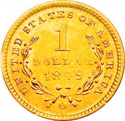 Liberty Head, Early Gold Dollar (1849-1854)