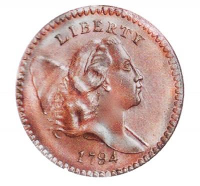 Liberty Cap Half Penny, Head Facing Right (1794-1797)