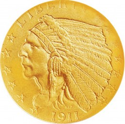 Indian Head Quarter Eagle, Early Gold Coins (1908-1929)