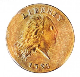 Flowing Hair Penny, Wreath Reverse (1793)