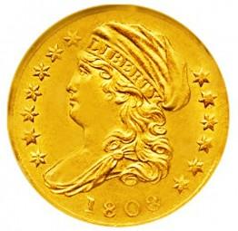 Turban Head Quarter Eagle, With Turban (1808-1834)