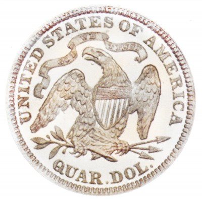 Seated Liberty Quarter Dollars, Second Arrows at Date Removed (1875-1891)