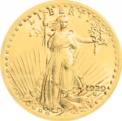 Saint Gaudens Gold Double Eagle, With Motto (1908-1933)